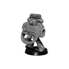 Space Marines Dark Angels avec lance plasma