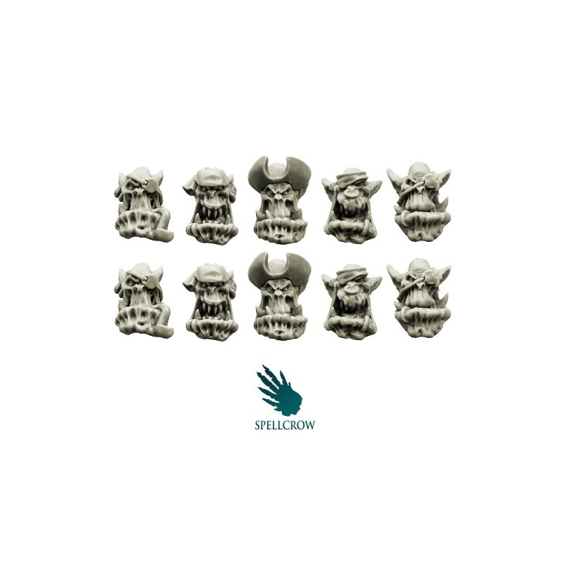 Bulky Freebooters Orcs Heads Spellcrow bits