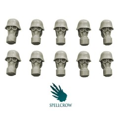 Blitzkrieg Guards Heads in Gas Masks Spellcrow bits