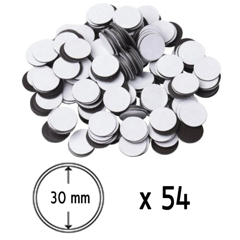 Adhesive Magnetic Disk 30 mm x54