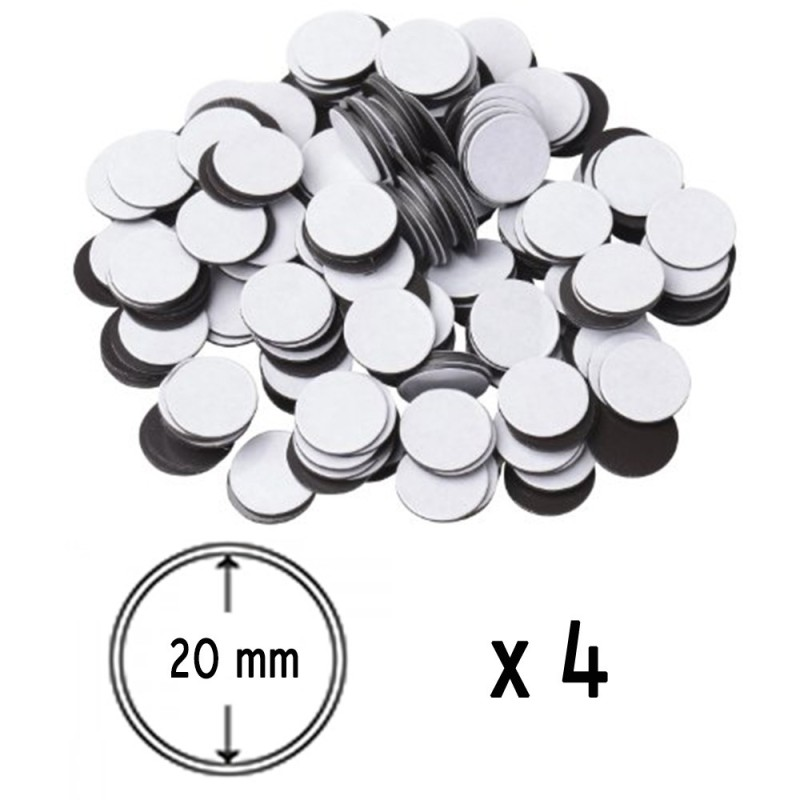 Adhesive Magnetic Disk 20 mm x4