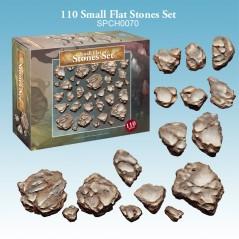 110 Small Flat Stones Set