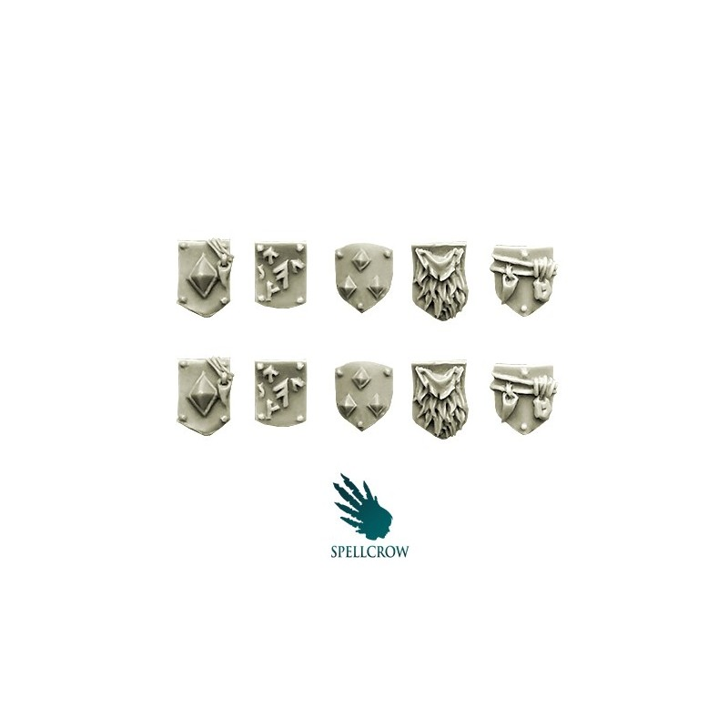 Wolves Space Knights - Small Shoulder Shields