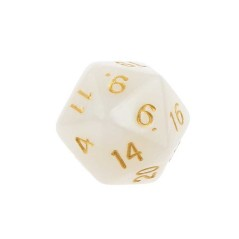 Dice Ivory - 20-sided dice