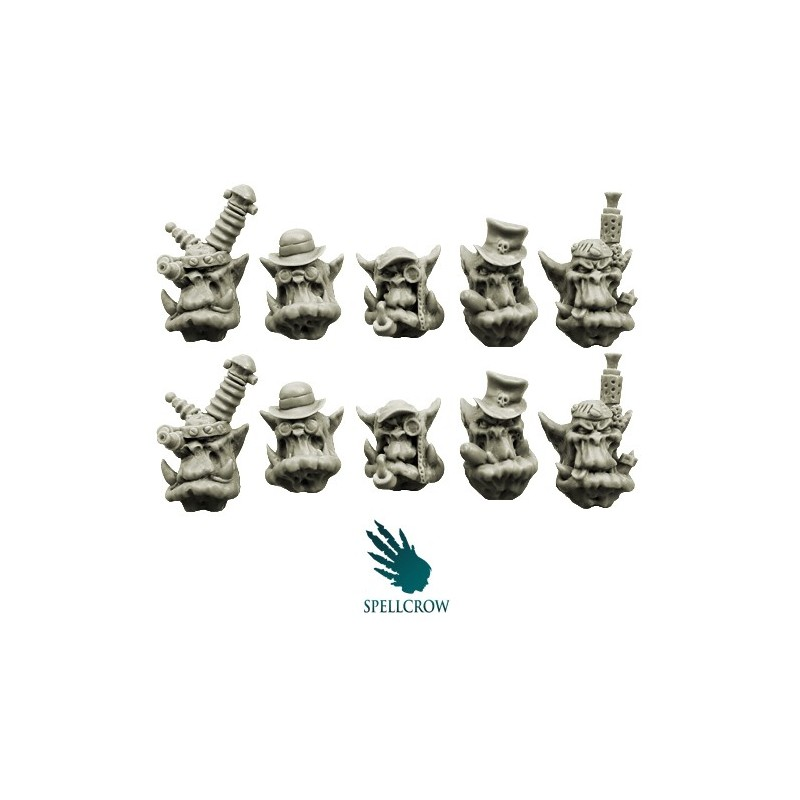 Steampunk Orcs Heads Spellcrow bits
