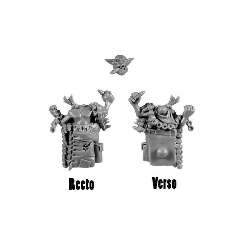 Backpack with Gretchin Burnas & Lootas bitz Orks Wh40k