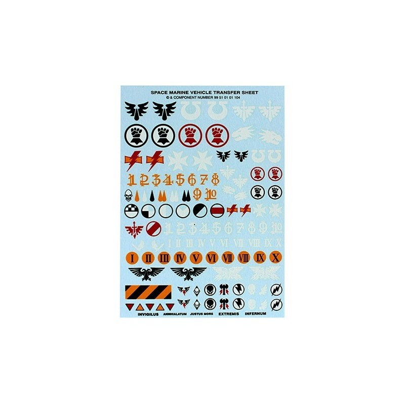 Space Marines vehicles Transfers
