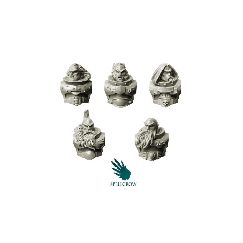 Wolves Space Knights - Veterans Torsos with Heads