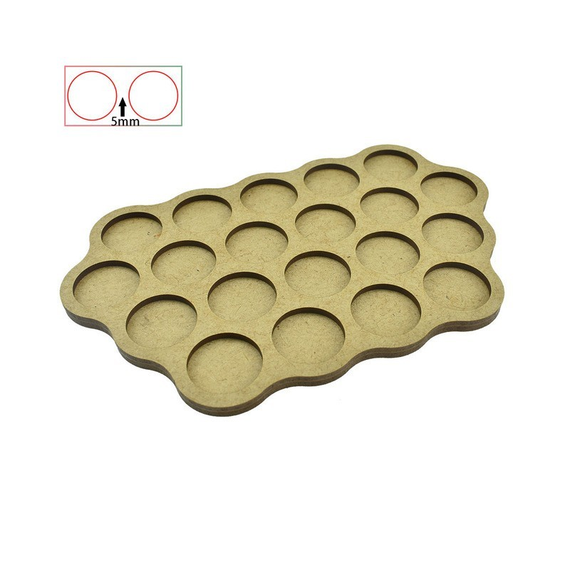 Movement Trays - 20 Bases of 25mm - 5 mm Spacing