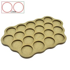 Movement Trays - 20 Bases of 25mm - 2.5mm Spacing