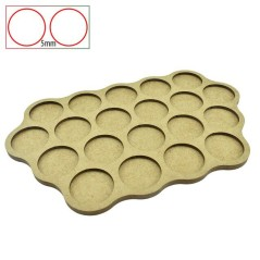 Movement Trays - 20 Bases of 32mm - 5 mm Spacing